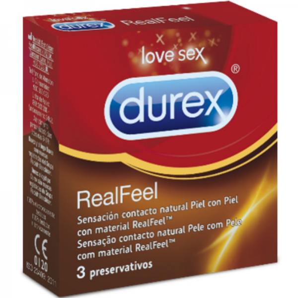 DUREX REAL FEEL 3 UNITS